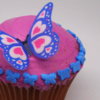 Confetti Blue Little Butterfly EDIBLE SHAPE sprinkles ALL Natural