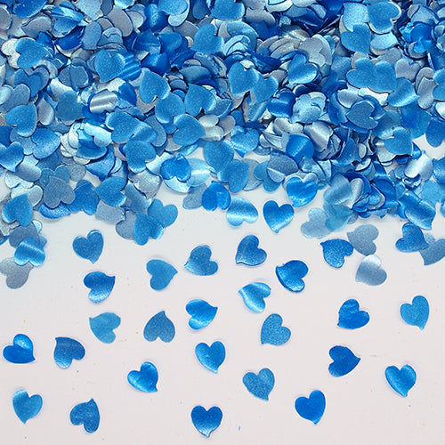 Blue Glitter Hearts Dairy Free Edible Decoration