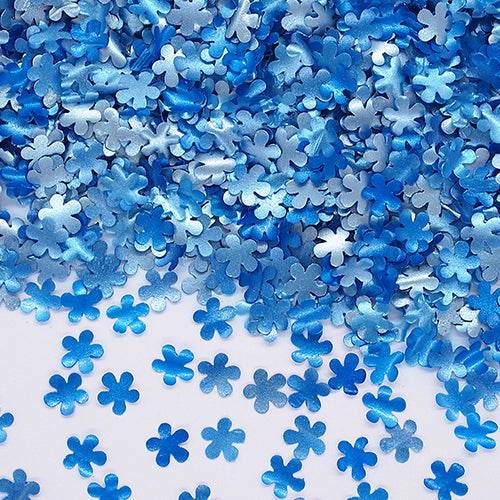 Blue Glitter Flowers Vegan Halal Certified Cake Decoration