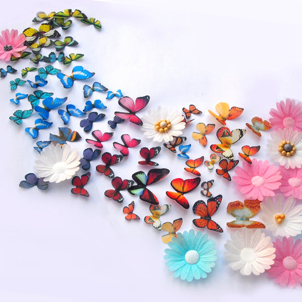 776 50 pcs edible wafer butterflies precut wafer shapes for cupcake cake decoration cake topper