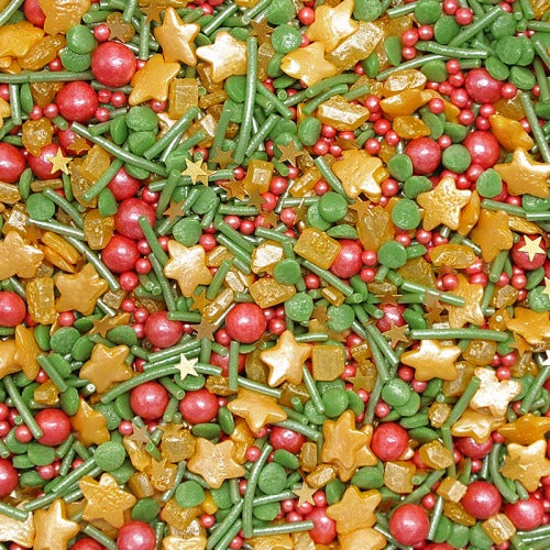 Christmas Magic sprinkles mix GMO Nuts Dairy Soy Free Cake Decoration