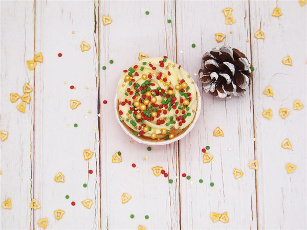 Christmas Surprise Sprinkles Mix Gluten GMO Nut Dairy Soy Free Cake Decoration