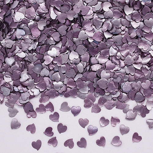 Natural Edible Purple GMO Nuts Gluten Sugar Free  Glitter Hearts