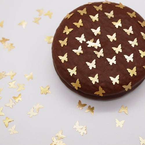 Gold Glitter Butterflies No Soy Non Gmos Cake Decoration