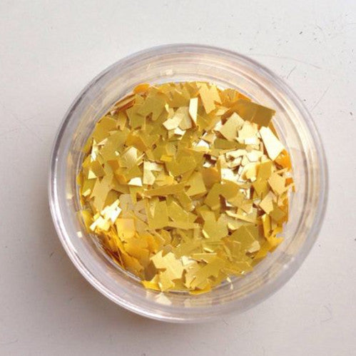 Gold Edible Sugar Free Glitter Flakes all Natural for DRINK & cake