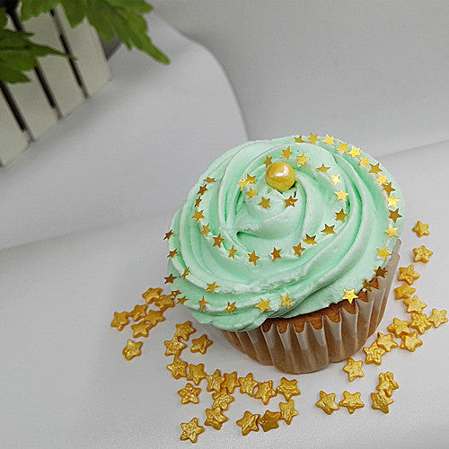 1647 Gold Edible Sugar Free all Natural Shimmer Glitter Stars for cake
