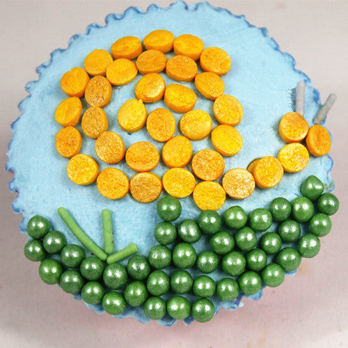 Shimmer Green 6mm Pearls Soy Free Vegan Cake Decoration