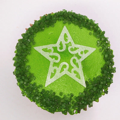 121 Green Natural Sugar Crystals Edible Cake decorations Cake toppers