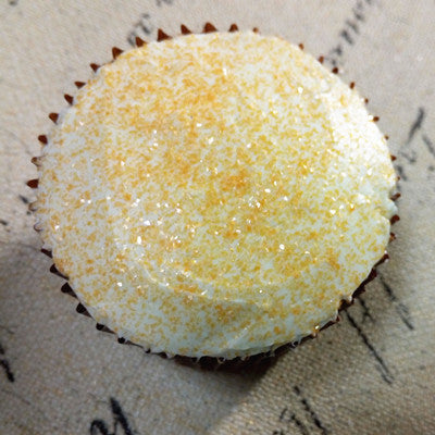 Orange Glitter Sparkles Gluten Free Edible Decoration