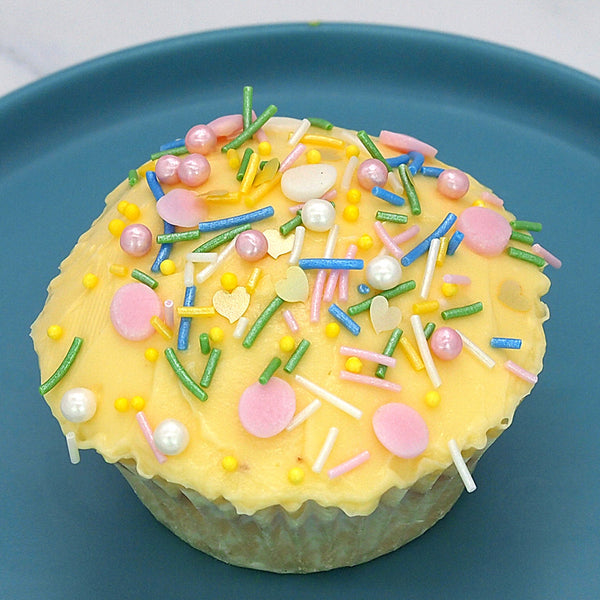 Pastel Party Sprinkles Mix Gluten GMO Nut Dairy Soy Free Cake Decoration