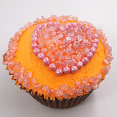 Shimmer Pink 6mm Pearls Soy Free Vegan Cake Decoration