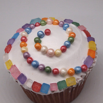Natural Gluten free Rainbow Colored Sugar Rocs Edible Cake decorations