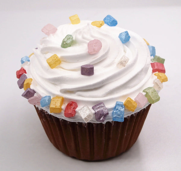 Natural Pearlized Rainbow Colored Sugar Rocs Edible Cupcake decoration