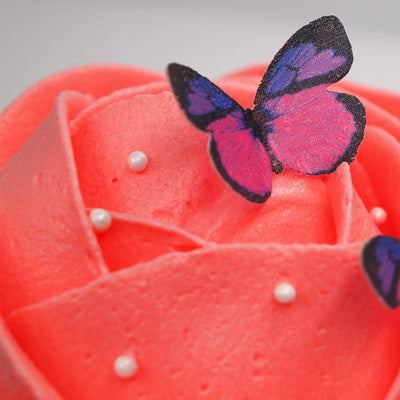 775 24 pcs Edible wafer butterfly precut wafer shapes for cupcake cake decoration cake topper