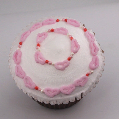 319 Edible Red Pink White Confetti Angel Hearts Sprinkles for cupcake