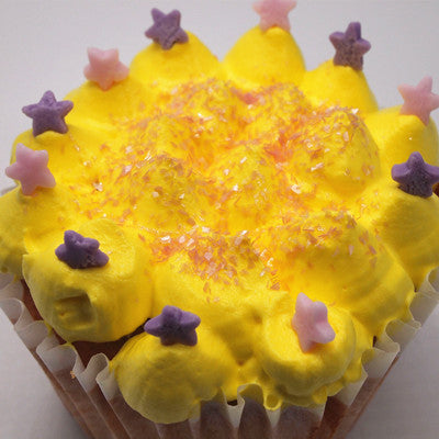 Pink Confetti Star No Gluten No Nut No Soy Cake Decoration