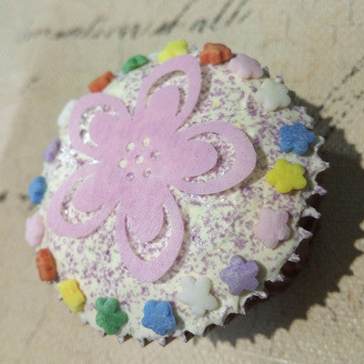 Natural Gluten Nuts free Rainbow Confetti Flower sprinkles cake Toppers