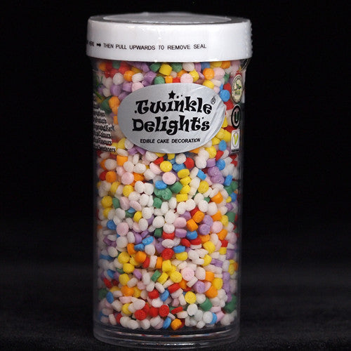 461 Rainbow Confetti Dots EDIBLE SHAPES sprinkles 100% Natural