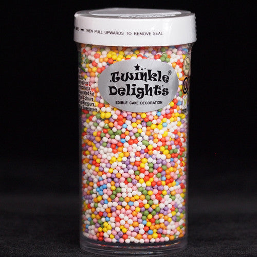 Rainbow Nonpareils Gluten Free Dairy Free No Nut Vegan Decor
