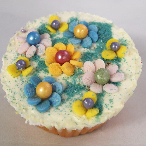 Glitter Sphere all Natural, Gluten free Cake decorations 4 cell shaker
