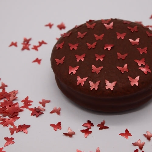 Red Glitter Butterflies Vegan Halal Certified Cake Decor