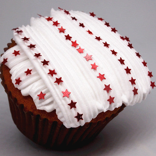 1659 RED Edible Glitter Stars 100% Natural sugar free cake decoration