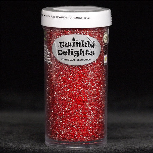 Natural Red Gluten GMO Nuts Dairy Soy Free Shimmer Sugar Crystals