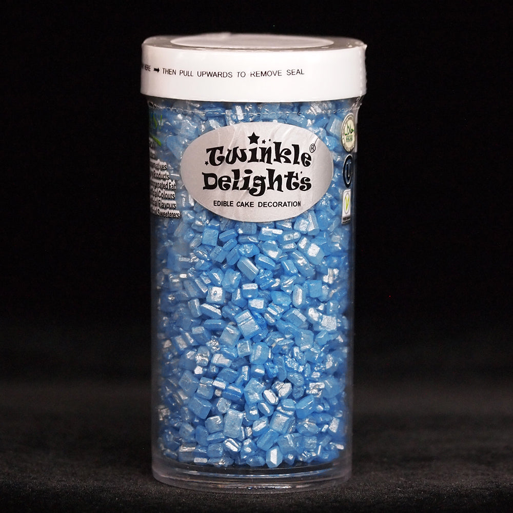 Natural Blue Shimmer Sparkling Sugar Nuts Dairy Soy Gluten GMO Free