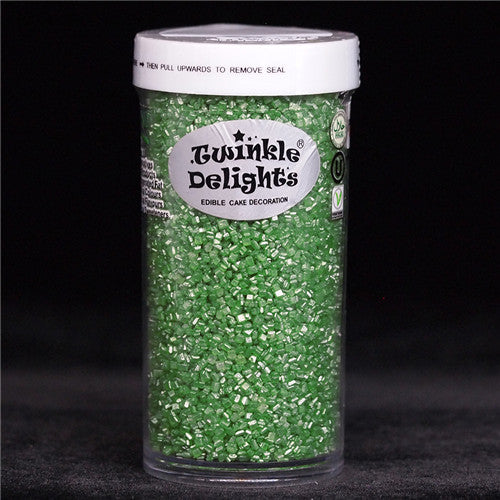 Natural Green Shimmer Sugar Crystals Nuts Dairy Soy Gluten GMO Free