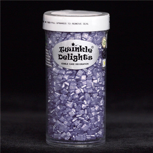 Natural Purple Shimmer Sparkling Sugar Nuts Dairy Soy Gluten GMO Free