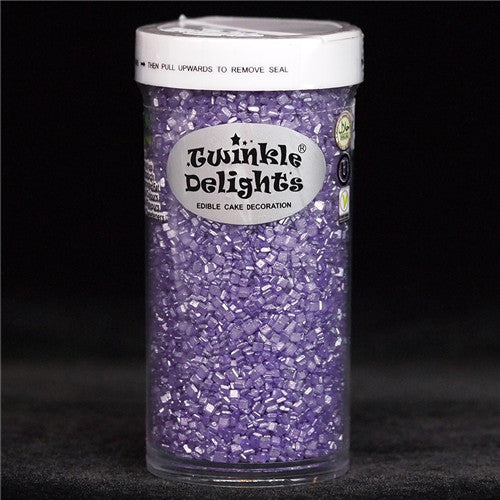 Natural Purple Shimmer Sugar Crystals Gluten GMO Nuts Dairy Soy Free