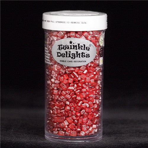 Natural Red Shimmer Sparkling Sugar Nuts Dairy Soy Gluten GMO Free