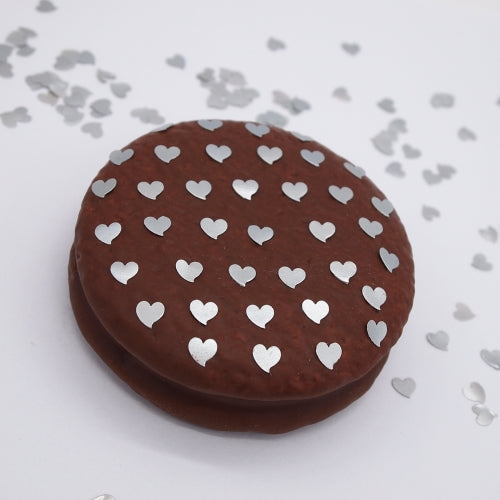 Natural Edible Silver GMO Nuts Gluten Sugar Free  Glitter Hearts