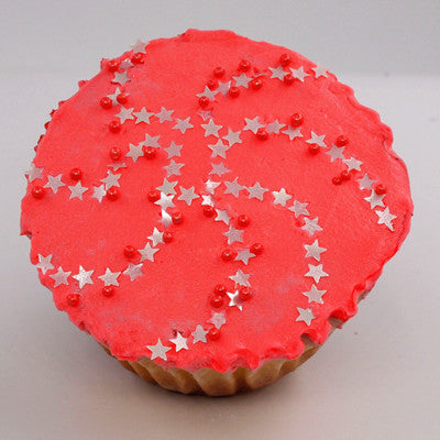 Rainbow Glitter Stars Gluten Free Edible Decoration