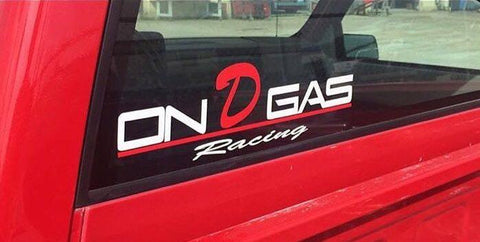 On D Gas Racing decal