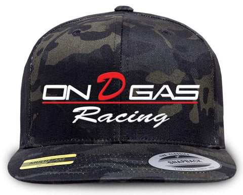 On D Gas Racing camo SnapBack Trucker (Mesh)