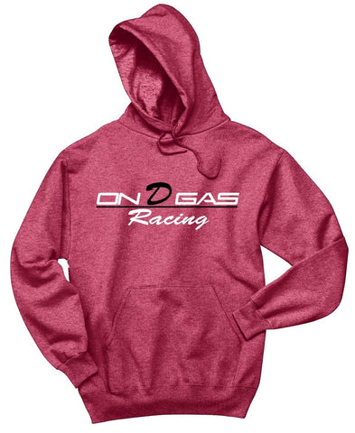 Faded Red On D Gas Racing hoodie