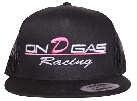 Pink on d gas racing trucker hat