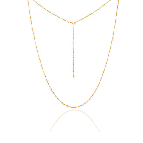 adjustable 80 cm gold plated sterling silver chain