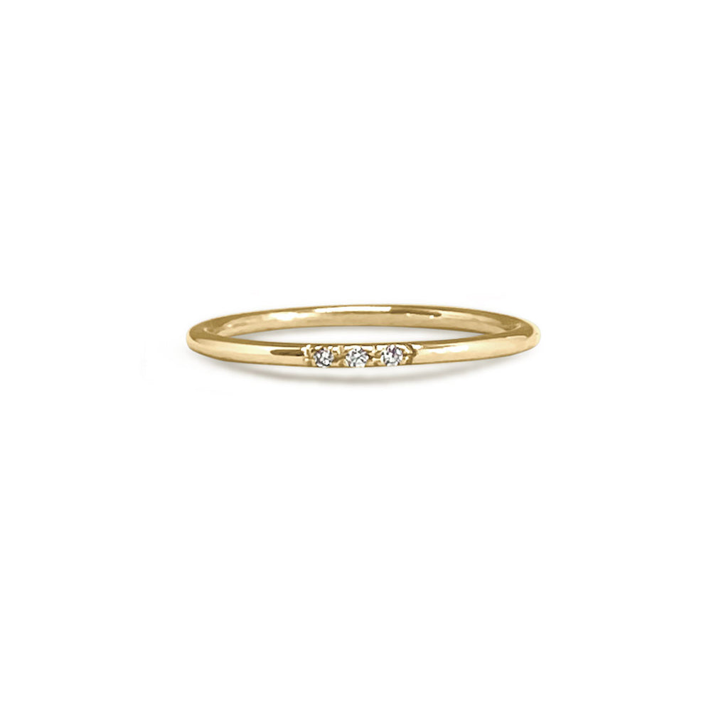 3 DIAMOND GOLD RING