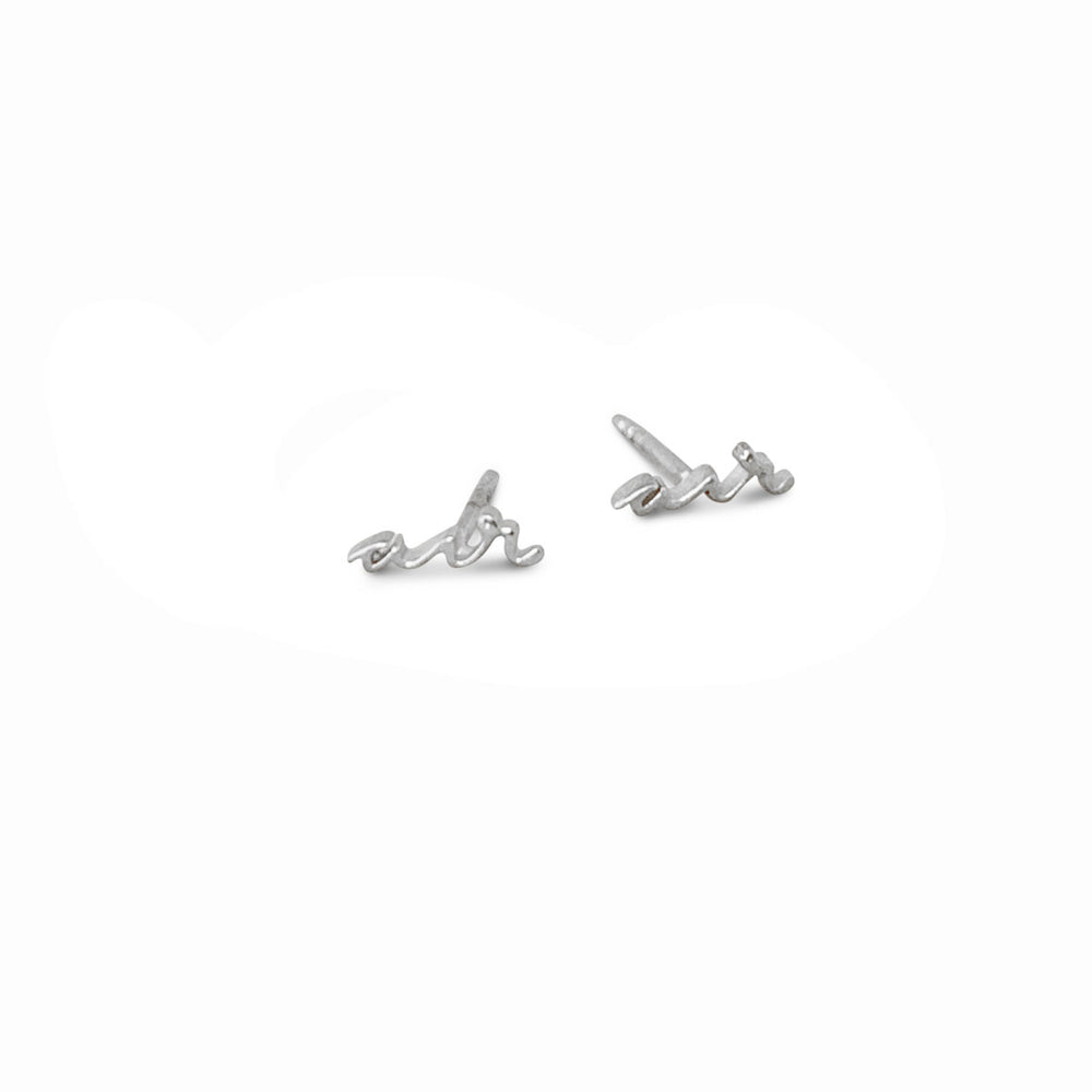 AIR ELEMENT SILVER EARSTUDS