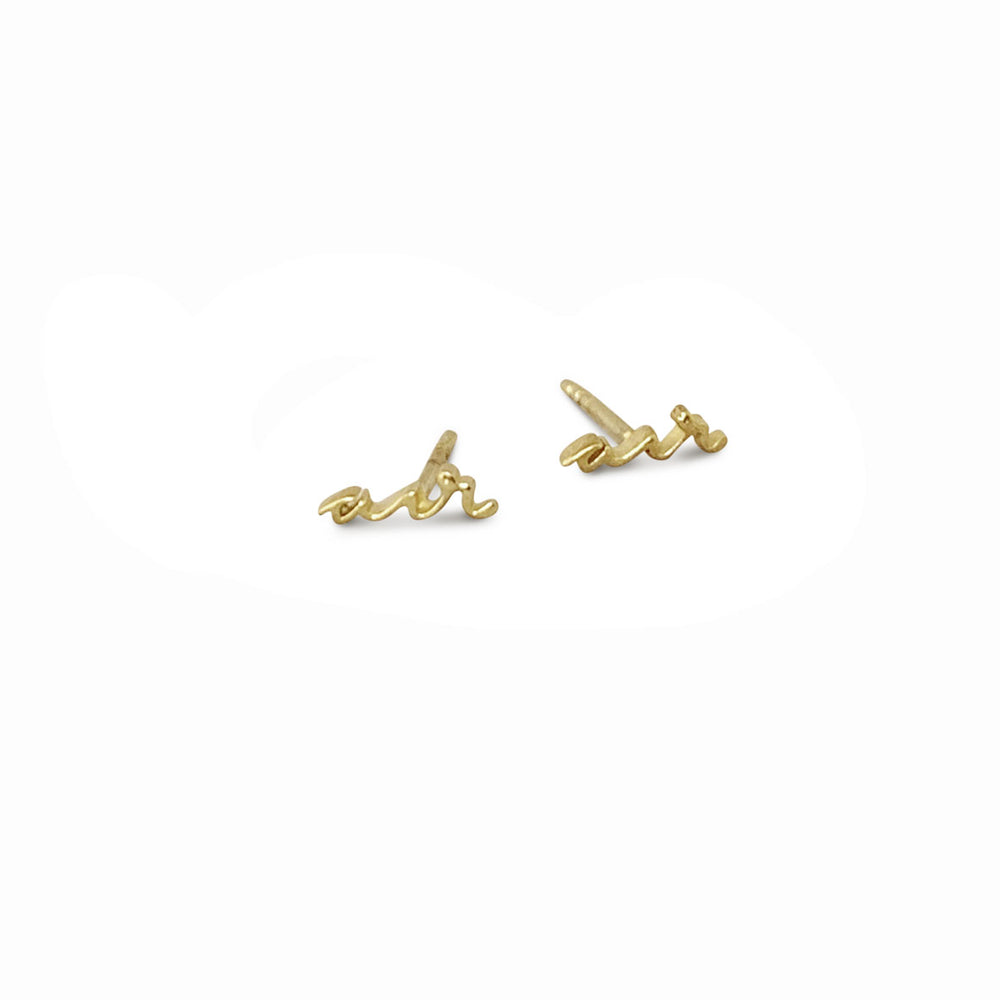 AIR ELEMENT GOLD-PLATED EARSTUDS