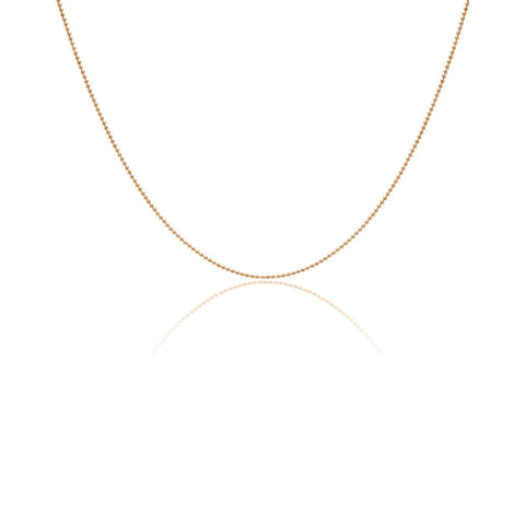 80 cm gold plated silver chain with gold plating