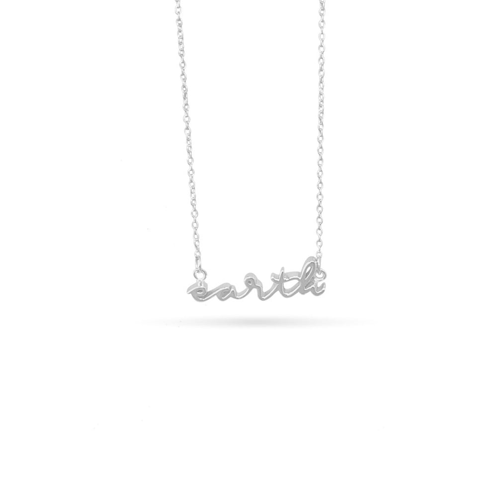 EARTH ELEMENT SILVER NECKLAGE