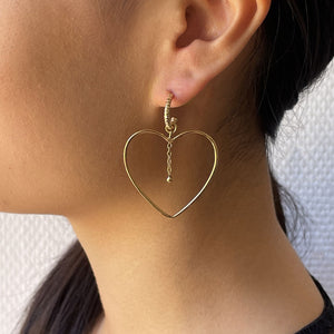 HEART HOOP GOLD-PLATED