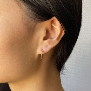 CREOLE GOLD-PLATED EARRINGS