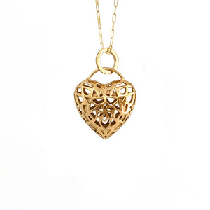 FILIGREE HEART GOLD-PLATED LOCKET