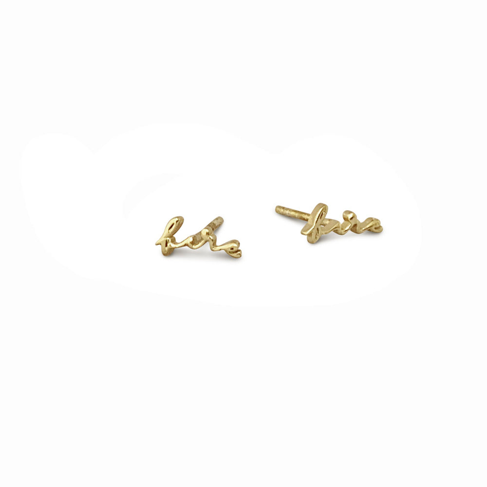 FIRE ELEMENT GOLD-PLATED EARSTUDS