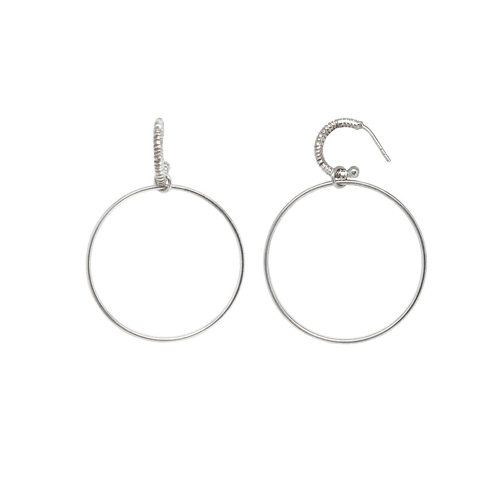 Sterling silver creol earring with hoop token