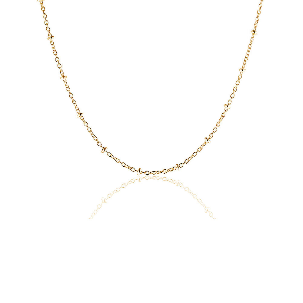 80 cm gold plated sterling silver indian chain